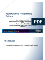 Hypercapnic Respiratory Failure/Pulmonary board review