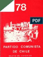 Boletín del Exterior Partido Comunista de Chile Nº78