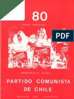 Boletín del Exterior Partido Comunista de Chile Nº80