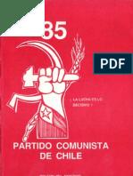 Boletín del Exterior Partido Comunista de Chile Nº85