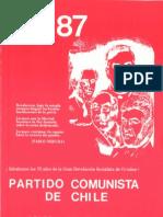 Boletín del Exterior Partido Comunista de Chile Nº87