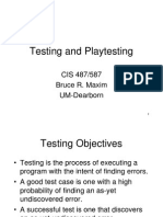 Testing games
