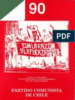 Boletín del Exterior Partido Comunista de Chile Nº90
