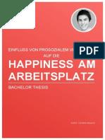 [HAPPINESS] Einfluss von Prosozialem Verhalten auf die Happiness am Arbeitsplatz