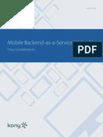Kony WP Mobile Backend as a Service
