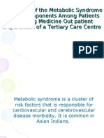 Pevelance of Metabolic Syndrome