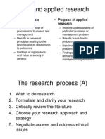 Research Methods for Business Students - Summary