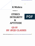 1.Ethics, Integrity & Aptitude by Sk Mishra ( Byju Classes).Rk Part 1 of 5