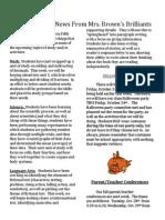 browns brilliants newsletter
