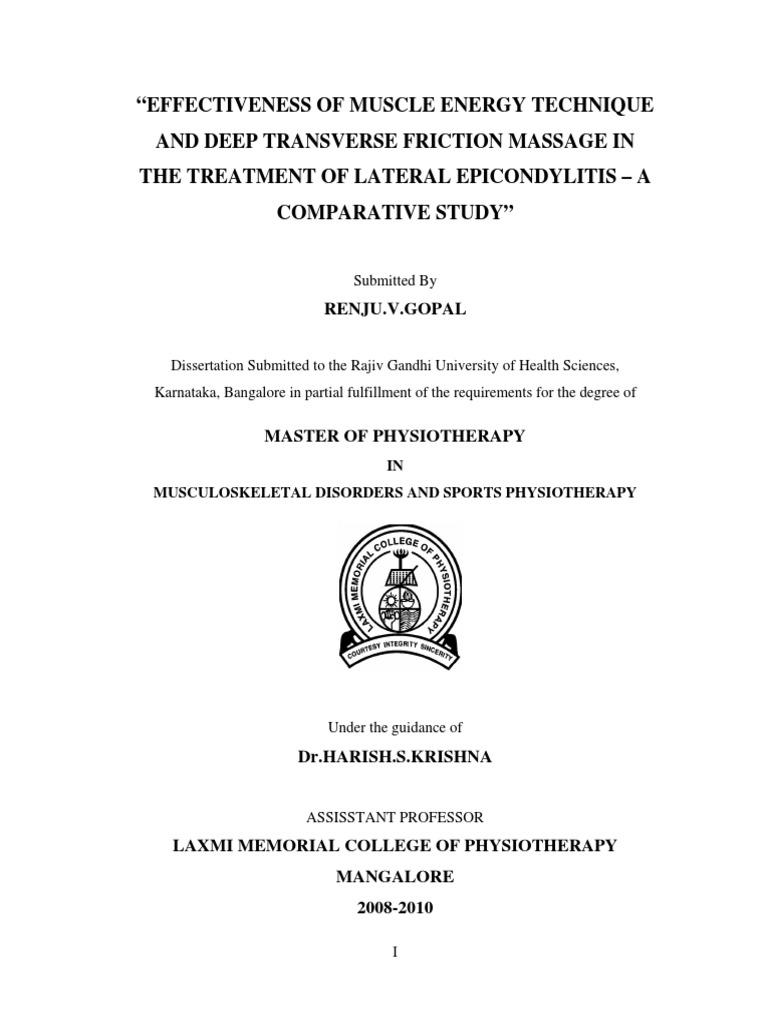 rajiv gandhi university dissertation topics in physiotherapy