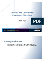 Unusual and Uncommon Pulmonary Disorder/pulmonary Board review