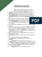 study guide social studies unit 1