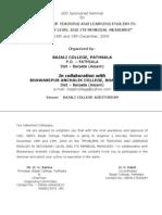 UGC Sponsored Seminar