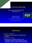 Vasculitis & Alveolar Hemorrhage/Pulmonary Board review
