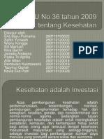 UU No 36 tahun 2009 tentang Kesehatan.pptx