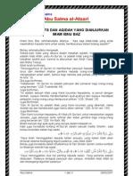 Buku Hadist Dan Aqidah Yang Dianjurkan Oleh Syaikh Bin Baz