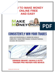 How To Make Money Online Free And Easy