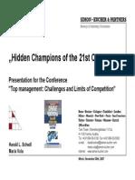 Shedl Hidden Champions Presentation Minsk