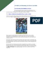 India vs Sri Lanka 3rd ODI - Live Streaming - Live Odds - Live Score
