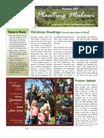 Planting Malawi December 2009 newsletter
