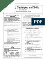 u2w4 reading skills and strategies
