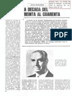 """Irazusta, Julio, """"La década del treinta al cuarenta"""", en Revista Todo es Historia, Bs. As., marzo 1980, Nº 154.pdf"""