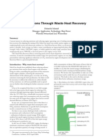 Less Emissions Through Waste Heat Recovery