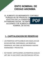 El Aumento Nominal de La Sociedad Anonima 14-09-11