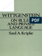 Kripke Saul a Wittgenstein on Rules & Private Language an Elem Exposit (1982)