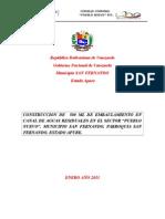 CONSTRUCCION DE 500 ML DE EMBAULAMIENTO DE CANAL DE AGUAS RESIDUALES EN ELC.C. SECTOR PUEBLO.doc