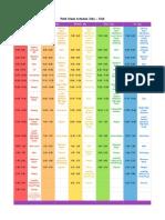 2014-2015 schedule third grade