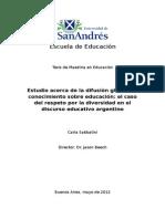 DIFUSION GLOBAL SOBRE CONOCIMIENTO EN EDUCACION.doc