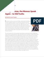 In Afghanistan, Women Speak Again. To Old Truths