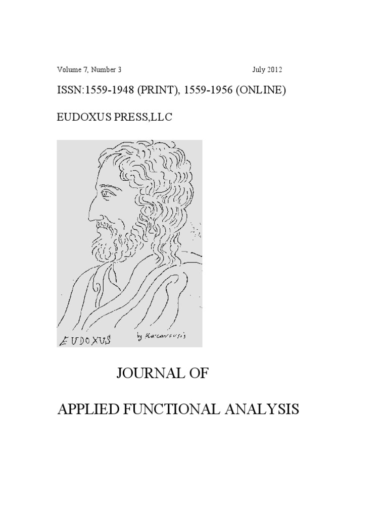 Journal of applied functional analysis metric space mathematical journal of applied functional analysis metric space mathematical analysis fandeluxe Gallery