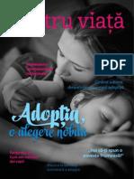 """Revista """"Pentru viata"""" Nr. 2 - Primavara 2014 - Adoptia o Alegere Nobila"""