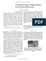Fabrication and Characterization of High-Q Nano-Inductor for Power Electronics