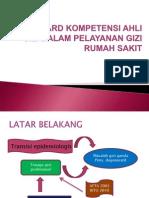 Standard Kompetensi Ahli Gizi Dalam Pelayanan Gizi Rumah i