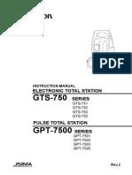 Topcon GPT 7500 User Manual