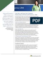Microsoft Dynamics CRM Datasheet