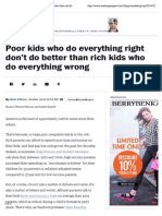 Poor Kids Who Do Everything Right Don't Do Better Than Rich Kids Who Do Everything Wrong - The Washington Post