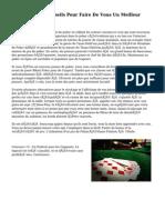Le Top 10 Des Conseils Pour Faire De Vous Un Meilleur Joueur De Poker