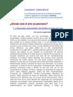 Texto2012-Dónde está el arte ecuatoriano por AmalinaBomnim.docx