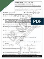 Maths Sample Paper Class 12
