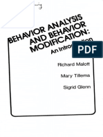 Behavior Analysis and Behavior Modification (Malott-tillema-glenn 1978)