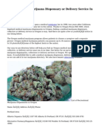 Find A Medical Marijuana Dispensary or Delivery Service In Oregon