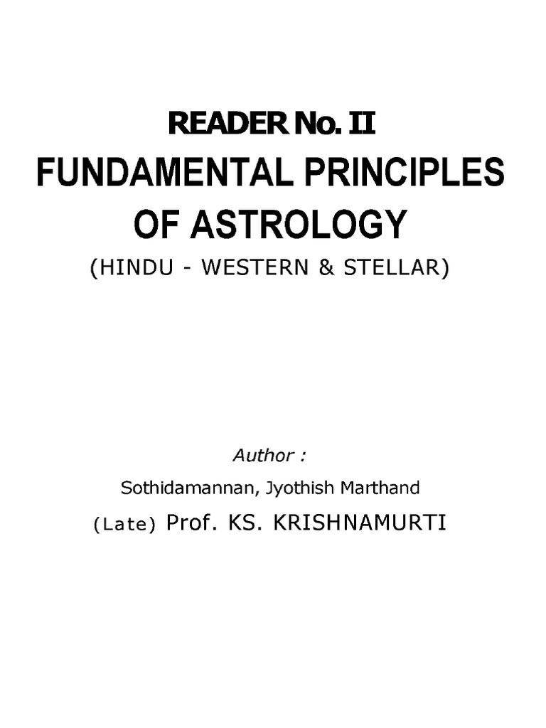 jyotish kp reader 2 fundamental principles of astrology planets in