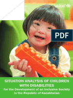 Situation Analysis of Children with Disabilities for the Development of an Inclusive Society in the Republic of Kazakhstan