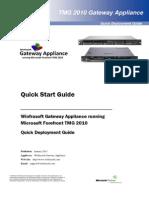 Winfrasoft TMG Gateway Appliance Quick Start Guide 1.2.pdf