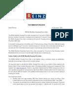 REINZ Monthly Housing Price Index Report - November 2009