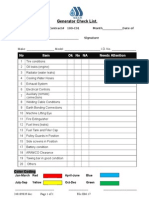 Generator Inspection Checklist
